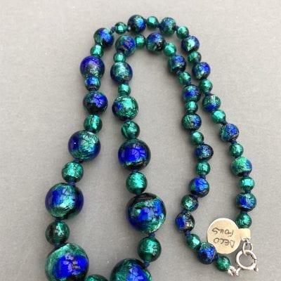 1920s Czech Foil Beads