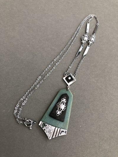 1920s Jakob Bengel Blue Necklace